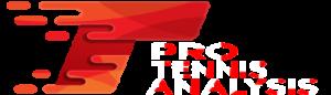 Pro tennis analysis logo white